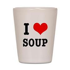 I Heart (Love) Soup Shot Glass