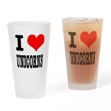 I Heart (Love) Unicorns Pint Glass