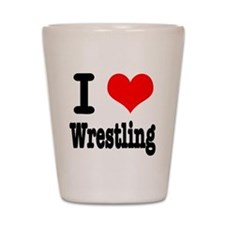 I Heart (Love) Wrestling Shot Glass