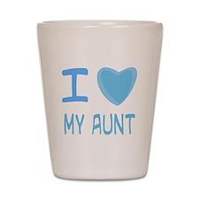 Blue I Heart (Love) My Aunt Shot Glass