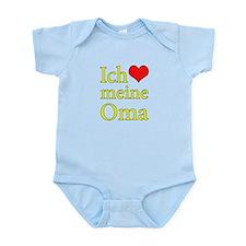 I Love Grandma (German) Infant Bodysuit