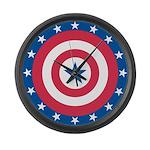 Stars bullseye Large Wall Clock