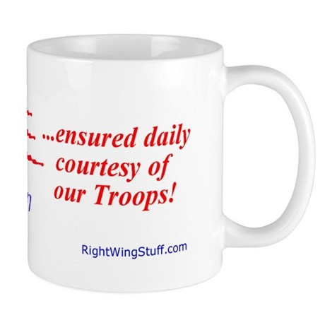 """Freedom Ensured"" Mug"
