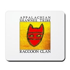 Raccoon Clan Yellow Mousepad