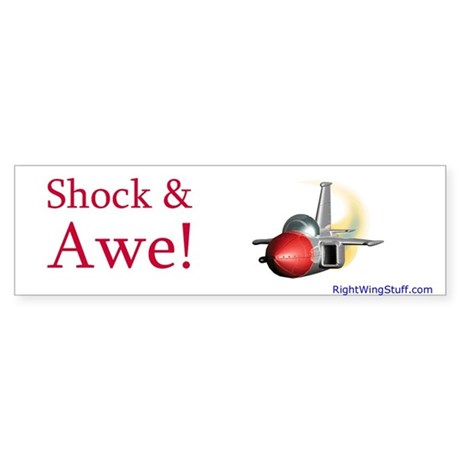 """Shock & Awe!"" Bumper Sticker"
