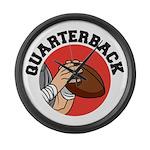 Quarterback Large Wall Clock