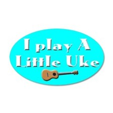 Play a little Uke 38.5 x 24.5 Oval Wall Peel