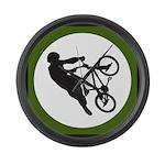 Biker Large Wall Clock