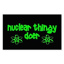 funny nuclear Decal