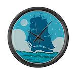 Ship Large Wall Clock
