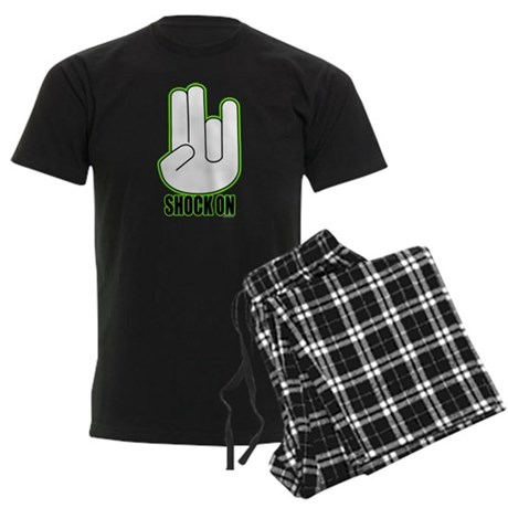 Shock on - Green Men's Dark Pajamas