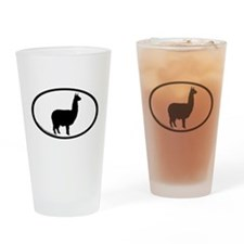 alpaca oval Pint Glass