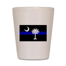 South Carolina Police Shot Glass