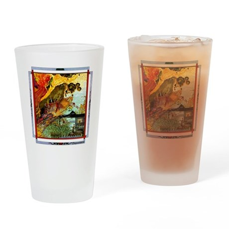 Demonic Illustration Pint Glass