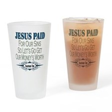 Jesus Paid Pint Glass
