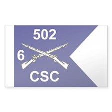 CSC 6/502nd Rectangle Decal