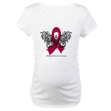 Multiple Myeloma Tribal Maternity T-Shirt