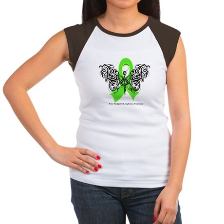 Non-Hodgkin's Lymphoma Tribal Women's Cap Sleeve T