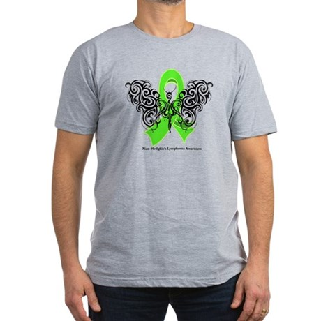 Non-Hodgkin's Lymphoma Tribal Men's Fitted T-Shirt