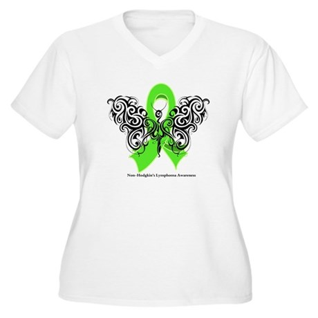 Non-Hodgkin's Lymphoma Tribal Women's Plus Size V-