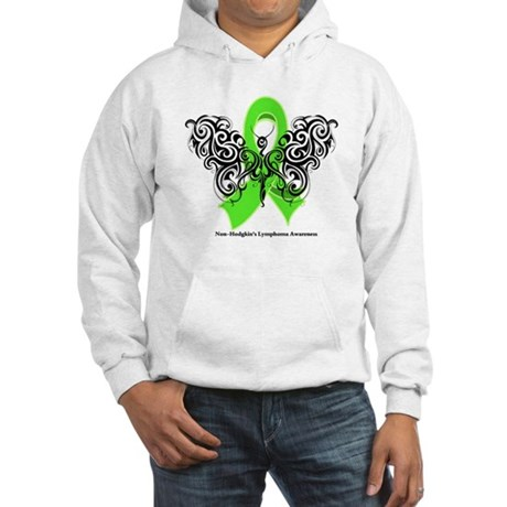 Non-Hodgkin's Lymphoma Tribal Hooded Sweatshirt