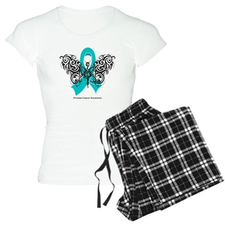 Ovarian Cancer Tribal Butterfly Women's Light Paja