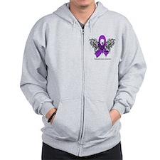 Pancreatic Cancer Tribal Zip Hoodie