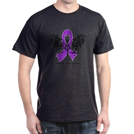 Pancreatic Cancer Tribal Dark T-Shirt
