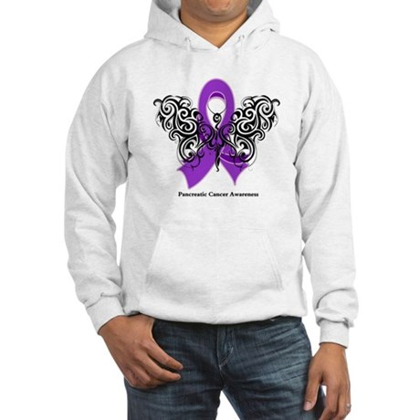 Pancreatic Cancer Tribal Hooded Sweatshirt