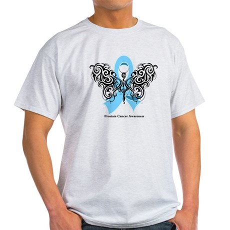 Prostate Cancer Tribal Butterfly Light T-Shirt