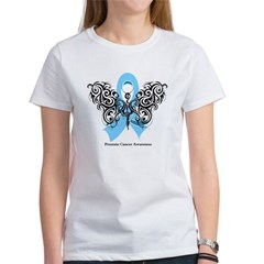 Prostate Cancer Tribal Butterfly Women's T-Shirt