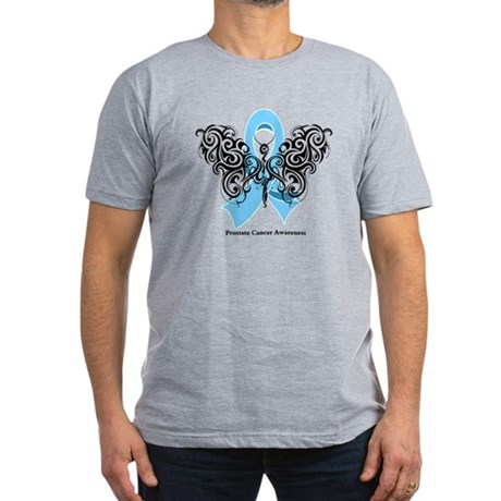 Prostate Cancer Tribal Butterfly Men's Fitted T-Sh