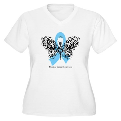 Prostate Cancer Tribal Butterfly Women's Plus Size