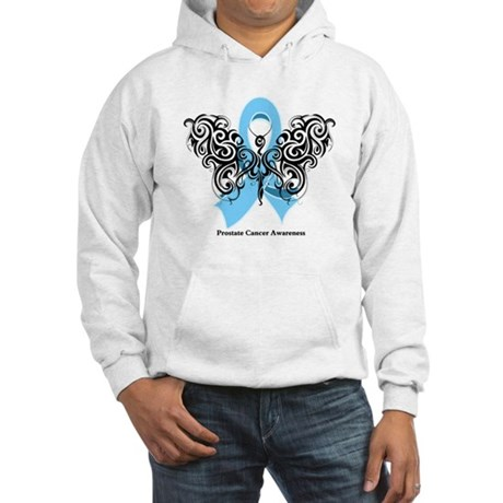 Prostate Cancer Tribal Butterfly Hooded Sweatshirt
