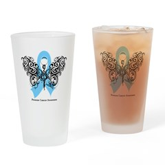 Prostate Cancer Tribal Butterfly Pint Glass