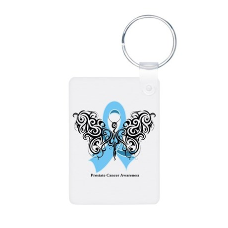Prostate Cancer Tribal Butterfly Aluminum Photo Ke