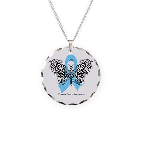 Prostate Cancer Tribal Butterfly Necklace Circle C