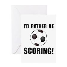 Unique Soccer fan Greeting Card