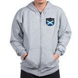 Scotland Flag Patch Zipped Hoody