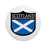 Scotland Flag Patch Ornament (Round)