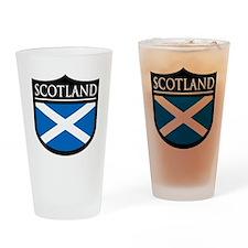 Scotland Flag Patch Pint Glass