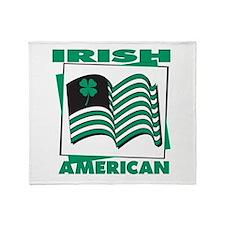 Irish American Throw Blanket