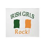 Irish Grils Rock Throw Blanket