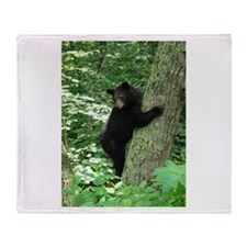 Cute Black bear Throw Blanket