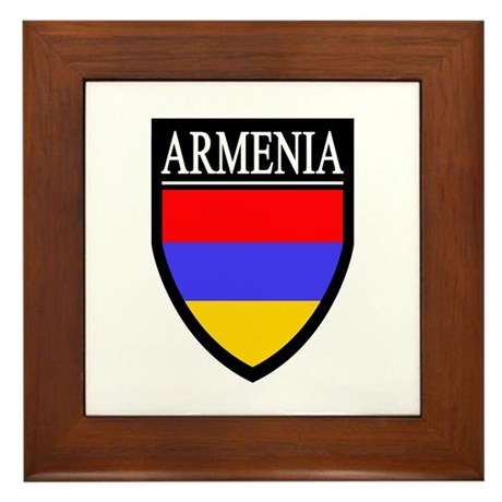 Armenia Flag Patch Framed Tile
