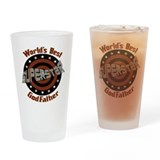 Fathers day godfather Pint Glasses