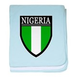 Nigeria Flag Patch baby blanket