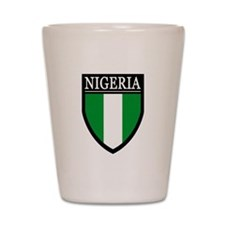 Nigeria Flag Patch Shot Glass