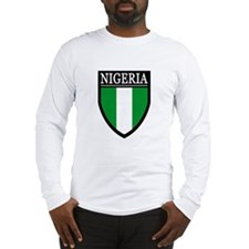Nigeria Flag Patch Long Sleeve T-Shirt