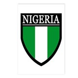 Nigeria Flag Patch Postcards (Package of 8)